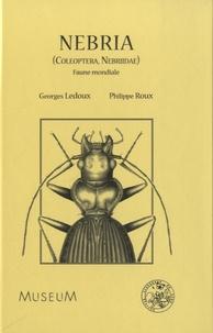 Georges Ledoux - Nebria (Coleoptera, Nebriidae) - Faune mondiale.