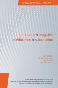 Georges-Louis Baron et Eric Bruillard - Informatique et progiciels en éducation et en formation - Continuités et perspectives.