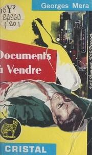 Georges Méra - Documents à vendre.