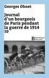 Georges Ohnet - Journal d'un bourgeois de Paris pendant la guerre de 1914 - 10.