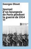 Georges Ohnet - Journal d'un bourgeois de Paris pendant la guerre de 1914 - 13.