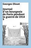 Georges Ohnet - Journal d'un bourgeois de Paris pendant la guerre de 1914 - 9.