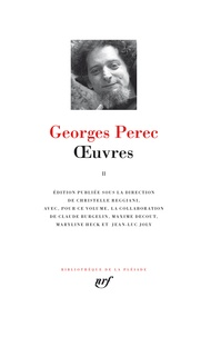 Georges Perec - Oeuvres - Tome 2.