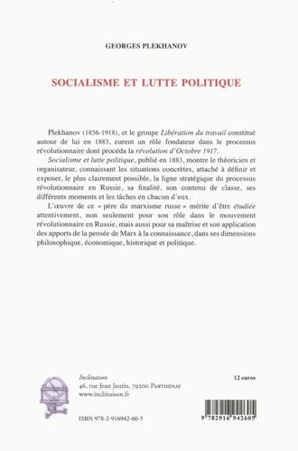 Socialisme et lutte politique