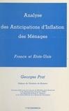Georges Prat et Christian de Boissieu - Analyse des anticipations d'inflation des ménages : France et États-Unis.