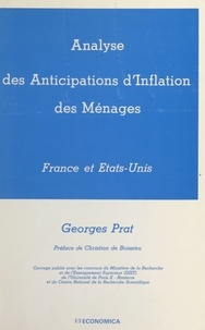 Georges Prat et Christian de Boissieu - Analyse des anticipations d'inflation des ménages : France et États-Unis.
