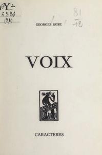 Georges Rose et Bruno Durocher - Voix : 1974.