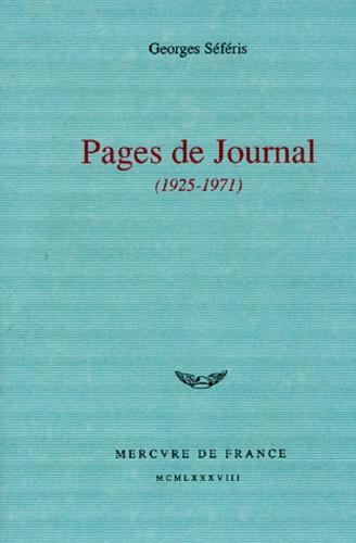 Pages De Journal 1925 1971