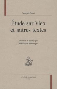 Georges Sorel - Etude sur Vico et autres textes.