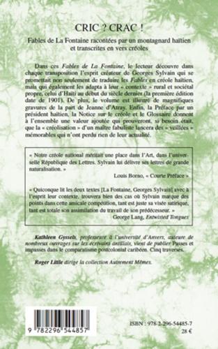 Cric ? Crac !. Fables de La Fontaine racontées par un montagnard haïtien et transcrites en vers créoles, édition bilingue français-créole  avec 1 CD audio