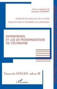 Georges Virassamy - Entreprises et loi de modernisation de l'économie.