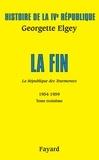 Georgette Elgey - Histoire de la IVe République Volume V - La République des tourmentes Tome 3.