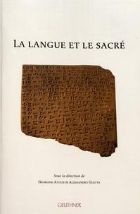 Georgine Ayoub et Alessandro Guetta - La langue et le sacré.
