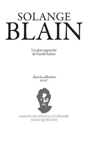 Gérald Aubert - Solange Blain.