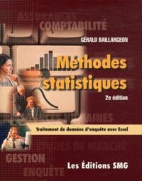 Gérald Baillargeon - Méthodes statistiques pour les programmes de comptabilité et de gestion. 1 Cédérom