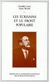 Géraldi Leroy et Anne Roche - Les Écrivains et le Front populaire.