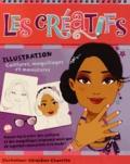 Géraldine Charette - Illustration Coiffures, maquillages et manucures.