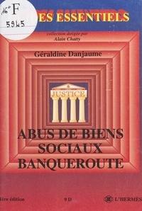 Geraldine Danjaume - Abus de biens sociaux, banqueroute.
