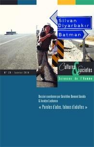 Géraldine Duvanel Aouida et Jocelyn Lachance - Cultures & Sociétés N° 29, Janvier 2014 : Paroles d'ados, tabous d'adultes.