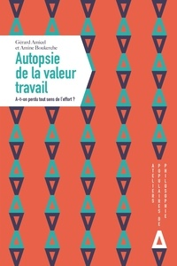 Gérard Amicel et Amine Boukerche - Autopsie de la valeur travail - A-t-on perdu tout sens de l'effort ?.