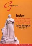 Gérard Bendahmane - Index des noms de personne contenus dans le journal du notaire lensois Léon Tacquet (1915-1917).