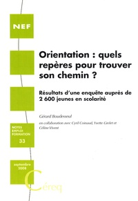 Gérard Boudesseul - Orientation : quels repères pour trouver son chemin ?.