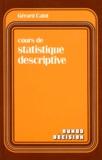 Gérard Calot - Cours de statistique descriptive.