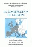 Gérard Camilleri - La construction de l'Europe.