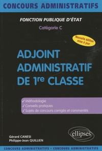 Gérard Canési et Philippe-Jean Quillien - Adjoint administratif de 1re classe - Catégorie C.