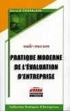 Gérard Chapalain - Pratique moderne de l'évaluation d'entreprise.