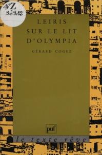 Gérard Cogez - Leiris sur le lit d'Olympia.