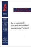 Gérard Cohen-Jonathan et William Schabas - La peine capitale et le droit international des droits de l'homme.