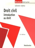 Gérard Cornu - Droit civil - Introduction au droit.