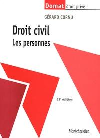 Gérard Cornu - Droit civil - Les personnes.