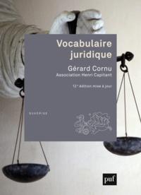 Téléchargez des livres epub Vocabulaire juridique in French par Gérard Cornu FB2