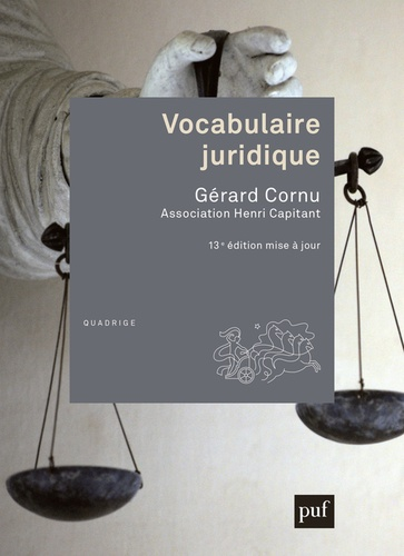 Vocabulaire juridique 13e édition