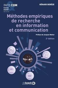 Gérard Derèze - Méthodes empiriques de recherche en information et communication - Observer décrire rendre compte.