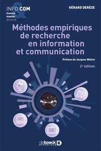 Gérard Derèze - Méthodes empiriques de recherche en information et communication.