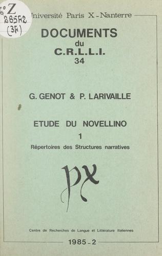 Étude du Novellino (1). Répertoires des structures narratives