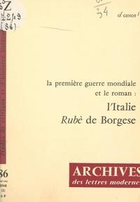 Gérard Genot et Michel J. Minard - La Première Guerre mondiale et le roman : l'Italie, Borgese.