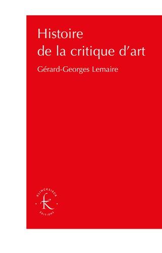 Histoire de la critique d'art