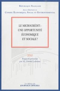 Gérard Labrune - Le microcrédit : une opportunité économique et sociale ? (n..