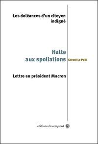 Galabria.be Halte aux spoliations! Les doléances d'un citoyen indigné - Lettre au président Macron Image