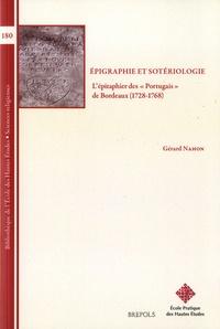 """Gérard Nahon - Epigraphie et sotériologie - L'épitaphier des """"Portugais"""" de Bordeaux (1728-1768)."""