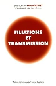 Gérard Peylet - Filiations et transmission.