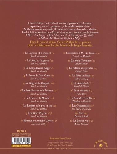 Gérard Philipe lit La Fontaine et les poètes  avec 1 CD audio