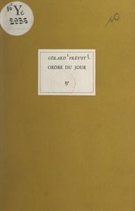 Gérard Prévot - Ordre du jour.