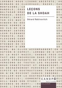 Gérard Rabinovitch - Leçons de la Shoah.