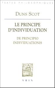Gérard Sondag - Le principe d'individuation - De principio individuationis.