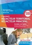 Gérard Terrien et Christian Carcagno - Annales corrigés Rédacteur Territorial / Rédacteur Principal Catégorie B - 2015 - 2016.